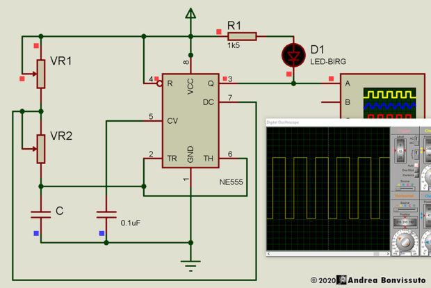 Adjustable Pulse Generator - Schema